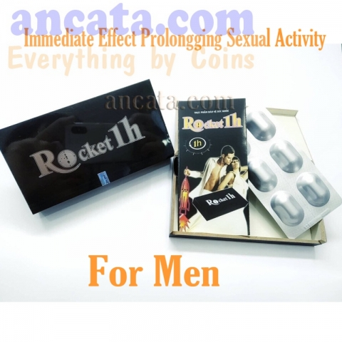 Rocket 1h for Men Immediate Effect Prolongging Sexual Activity - Free Ship