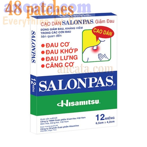 48 Patches Hisamitsu SALONPAS Muscle Arthritis Aches Stiff Neck Joint Pain Relief - Free Ship
