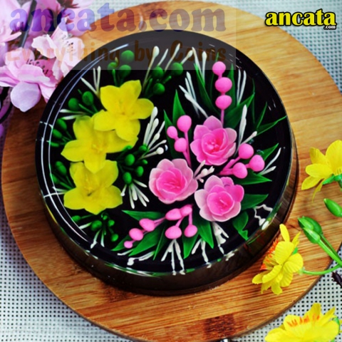Set of needle made 3d flower jelly - Apricot blossom set