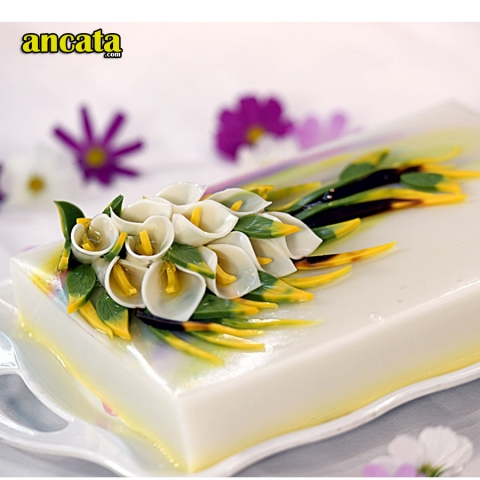 05pcsset 3D Gelatin Jelly Flower Mold Pudding Cake Art Needles Tools - Set Phalaenopsis orchids