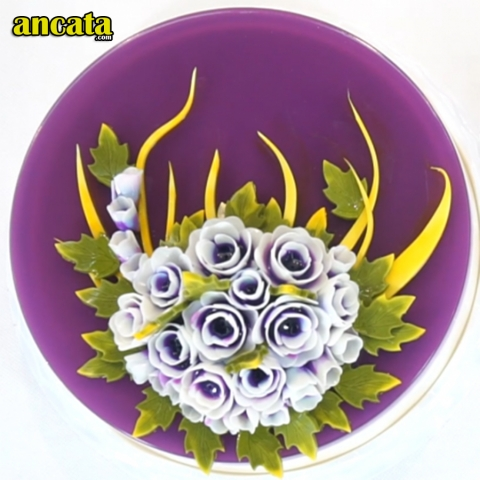 05pcs/set 3D Gelatin Jelly Flower Mold Pudding Cake Art Needles Tools - Set Dendrobium flower