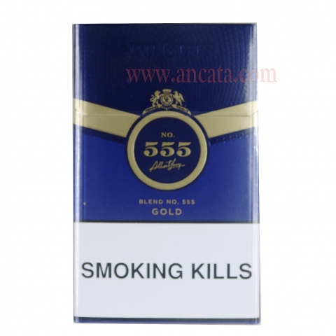 Set 8 Packs 555 Blue Gold King Size Blend No