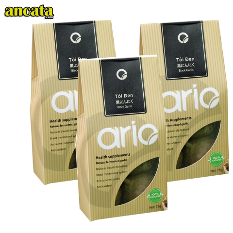 3 bags Organic Black Garlic Ario - VAT And Free Ship