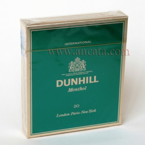 8 Packs Dunhill Menthol International London - Paris - New York