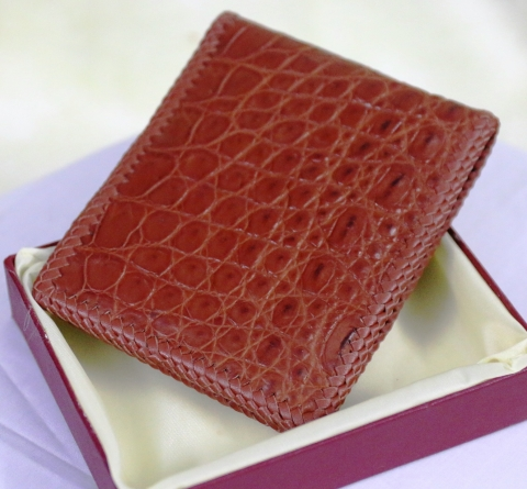 Genuine Crocodile Wallets Skin Leather - Billfold Men's-Handmade