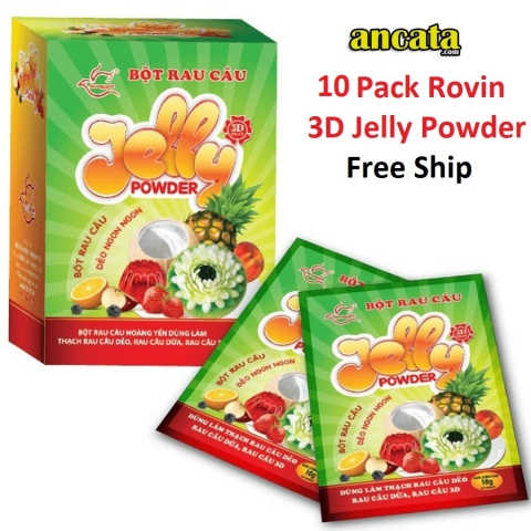 10 Pack Rovin 3D Jelly Powder - The Best For Jelly Art Cake - Free Ship