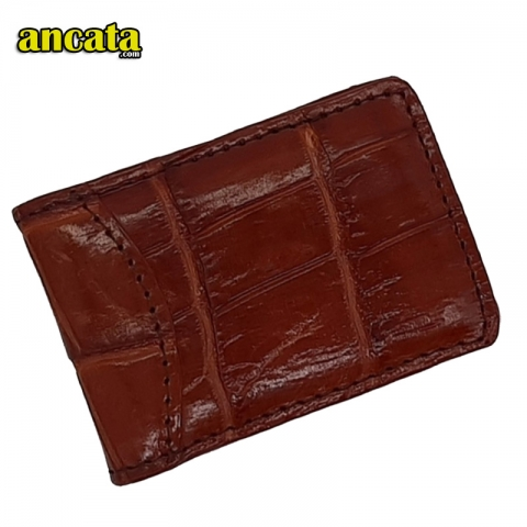 Skip to the beginning of the images gallery Money Clip- Men's New Leather Strong Magnetic - Brown Color