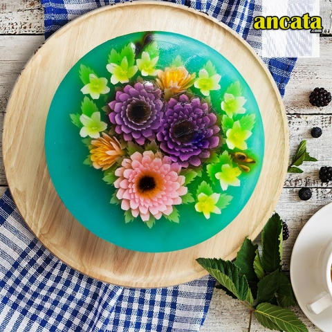 Ngoc Hue 05Pcs Stainless Steel 3D Gelatin Art Tool Set Jelly Water Lily Flower Cake Tool Kit