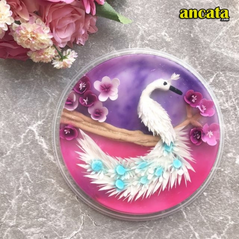 Gelatin Art Tools, 3D Jelly Cake Tools With Instruction Peacock (5pcs/Set)