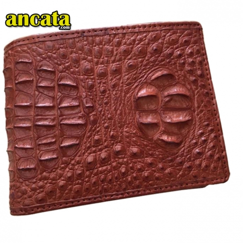 Small Scalp wallet crocodile genuine Leather for men