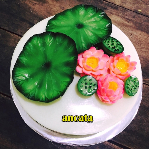 Set of needle made 3d flower jelly - Lotus theme set