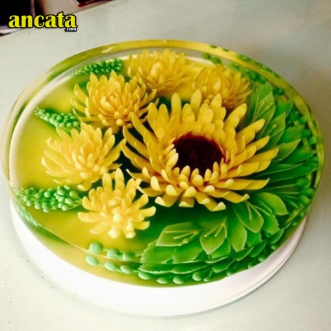 Set of needle made 3d flower jelly - sunflower set