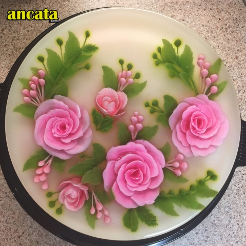 05 PCS / SET needle rose Leaves 3D Jelly Art Cake Tools - Rose theme