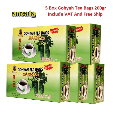 5 Box Gohyah Tea Bags 200gr - Incluđe VAT and Free ship